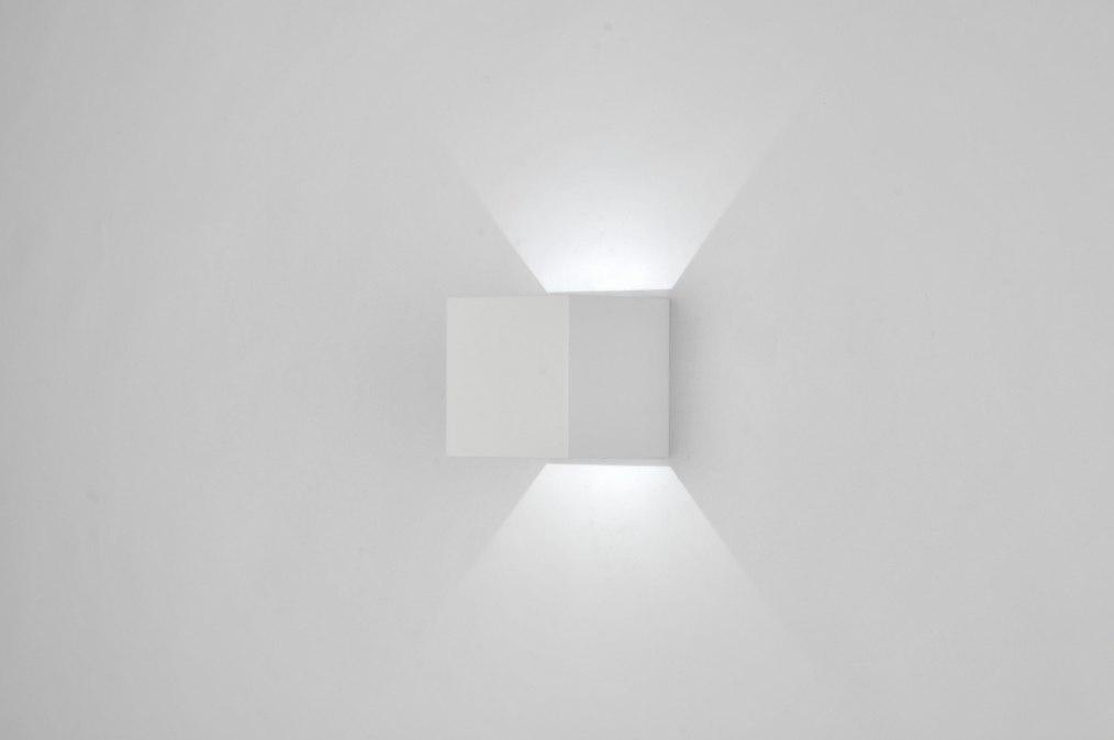 Design Wandlamp Keuken : Wandlamp 86450: Modern, Design, Metaal, Wit