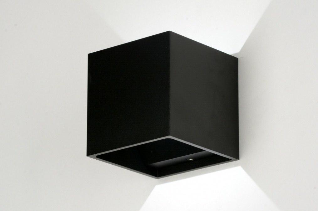 wandleuchte 86452 modern design metall schwarz. Black Bedroom Furniture Sets. Home Design Ideas