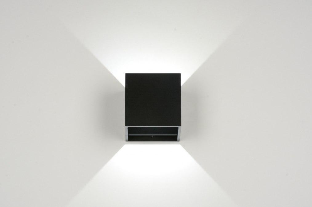 Wandlamp 86452 modern design metaal zwart - Winkel balkon leroy merlin ...