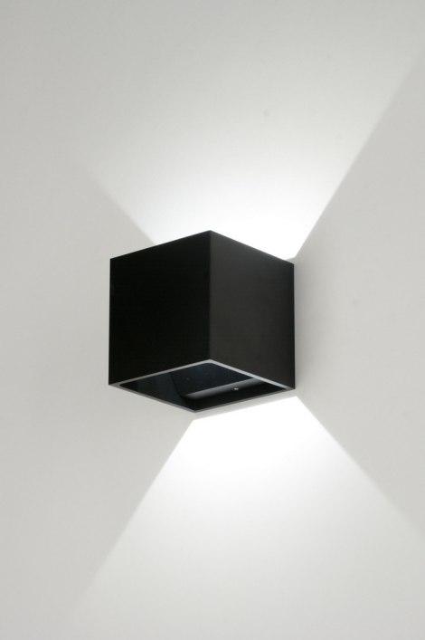 applique murale 86452 moderne design acier noir. Black Bedroom Furniture Sets. Home Design Ideas