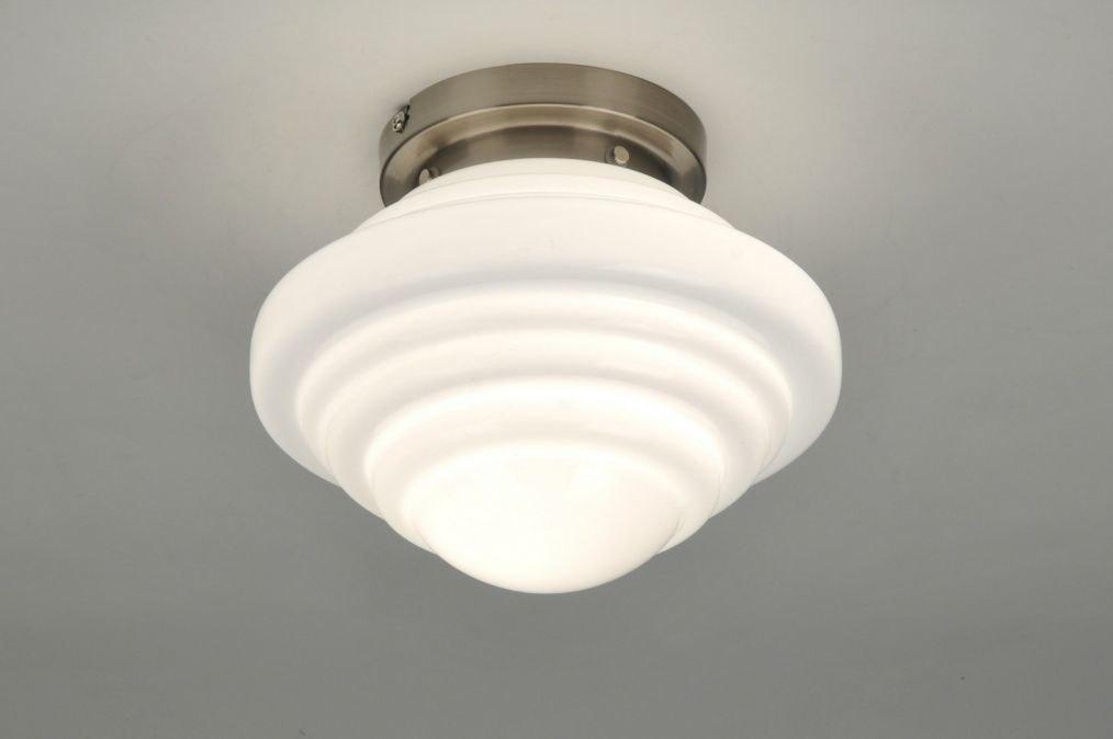 plafonnier 86833 moderne retro verre verre opale blanc. Black Bedroom Furniture Sets. Home Design Ideas