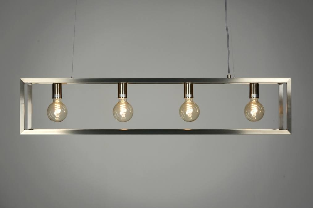Design Keuken Hanglamp : Hanglamp 87313: Modern, Design, Staalgrijs, Staal Rvs
