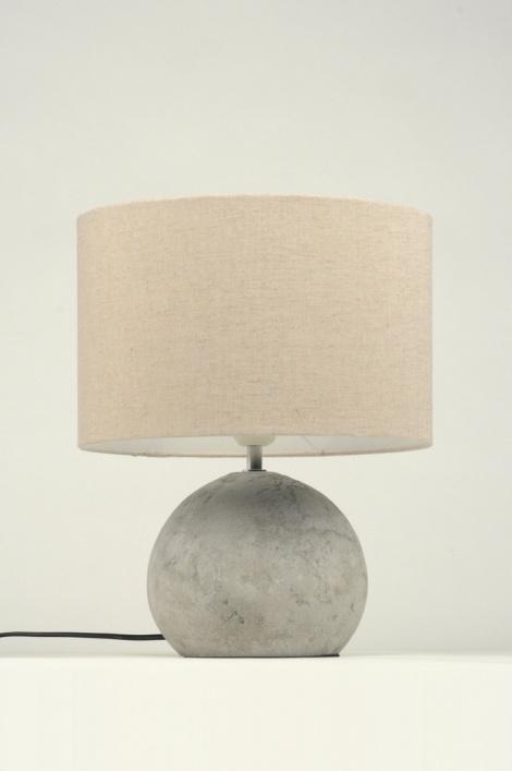 Lampe Dehors Of Lampe De Table 87591 Moderne Etoffe Gris Rond