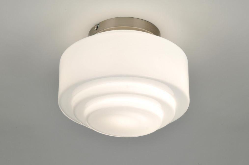 Ikea Badkamer Meubeltjes ~ plafondlamp 87621 modern, retro, glas, wit opaalglas