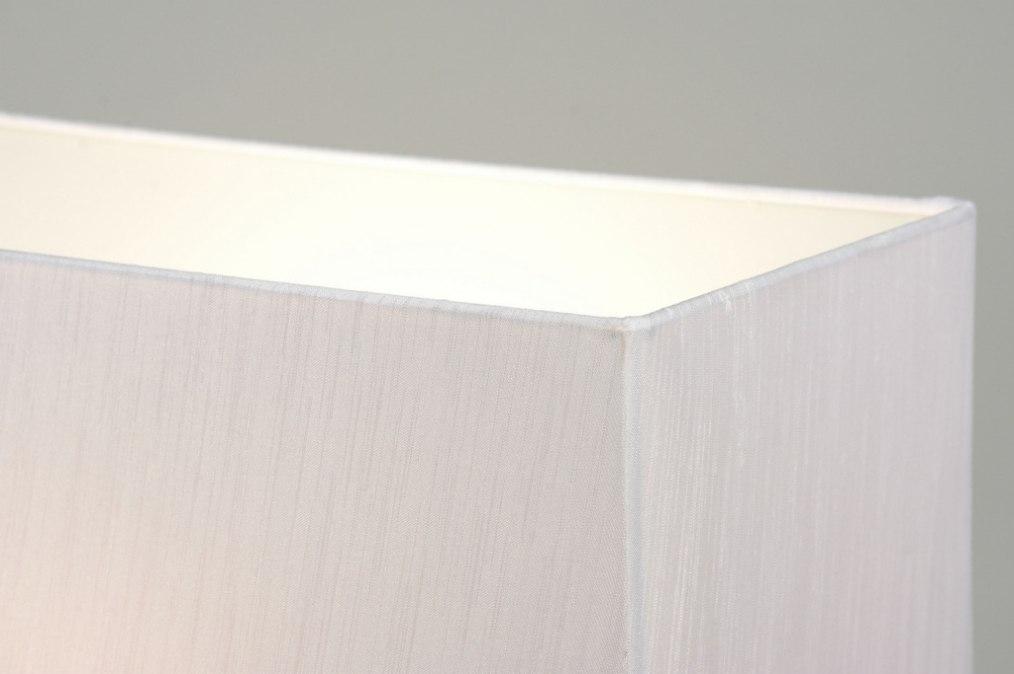 tischleuchte 88221 modern glas stoff weiss. Black Bedroom Furniture Sets. Home Design Ideas