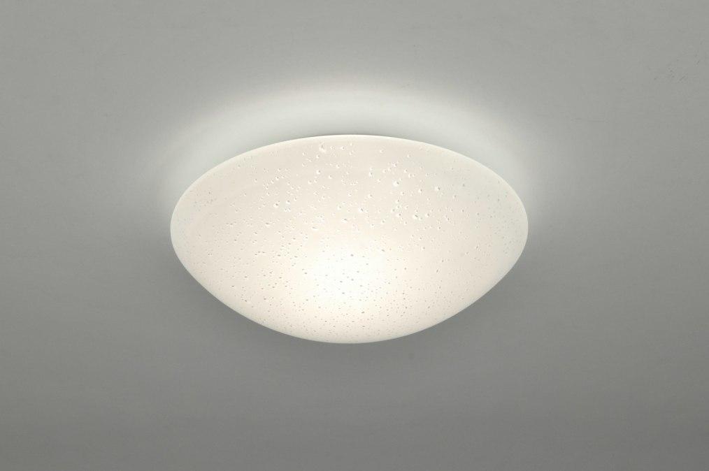 deckenleuchte 88467 modern klassisch glas mit opalglas metall weiss rund. Black Bedroom Furniture Sets. Home Design Ideas