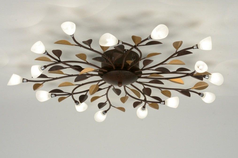 Plafondlamp 88566: klassiek, roest, bruin, brons