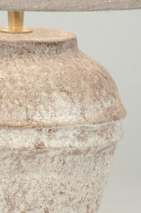 Tischleuchte 88920 modern keramik stoff braun - Keramik tischleuchte ...