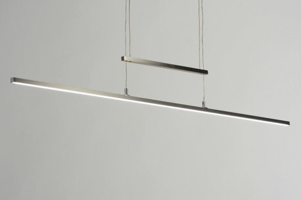 hanglamp 88933: modern, design, staalgrijs, staal