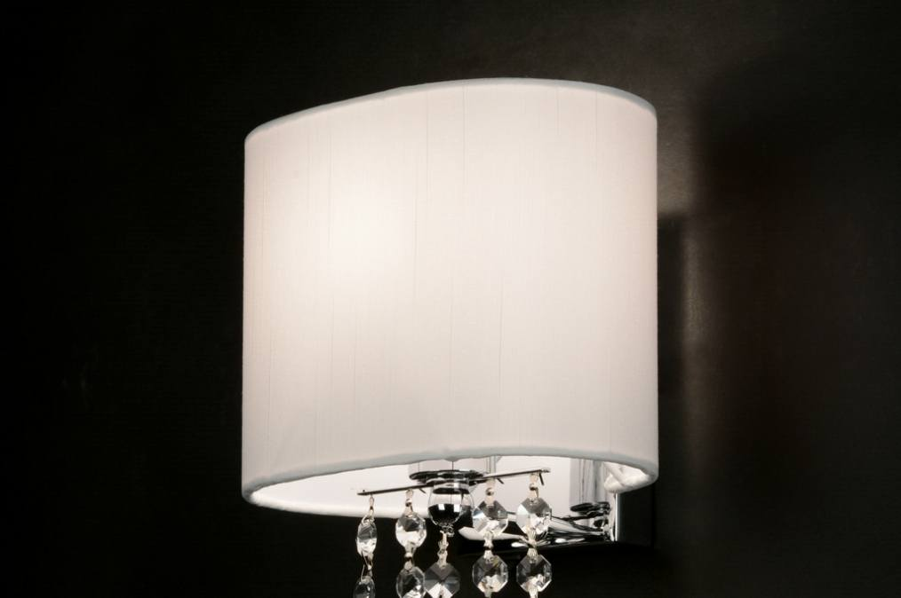 wandleuchte 88940 modern kristall kristallglas stahl. Black Bedroom Furniture Sets. Home Design Ideas