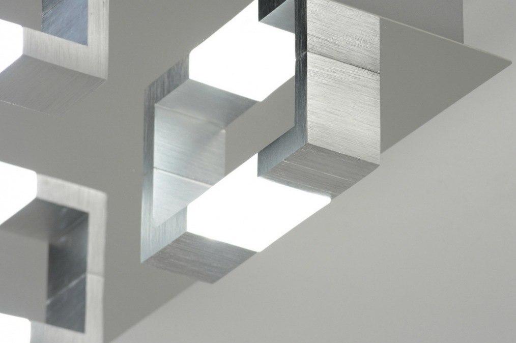 deckenleuchte 89145 modern aluminium chrom gebuerstetes aluminium. Black Bedroom Furniture Sets. Home Design Ideas