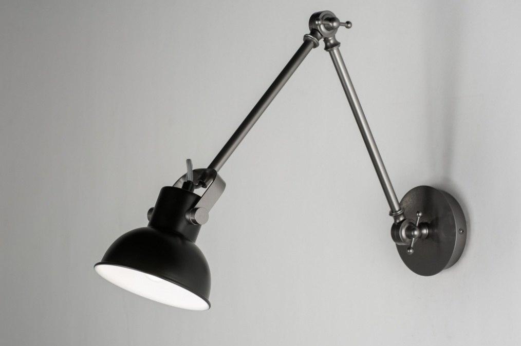 wandleuchte 89319 industrielook metall schwarz. Black Bedroom Furniture Sets. Home Design Ideas