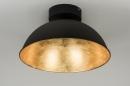 bekijk plafondlamp-10109-modern-metaal-zwart-mat-rond