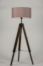 bekijk vloerlamp-10305-modern-retro-taupe-hout-donker_hout-stof-rond