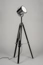 bekijk vloerlamp-10385-modern-industrie-look-zwart-hout-metaal-rond