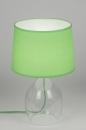 bekijk tafellamp-10563-modern-glas-helder_glas-stof-groen-rond