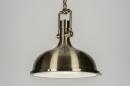 bekijk hanglamp-10567-klassiek-industrie-look-roest-bruin-brons-metaal-rond