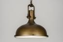 bekijk hanglamp-10569-klassiek-industrie-look-roest-bruin-brons-metaal-rond