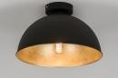 bekijk plafondlamp-10698-modern-zwart-mat-metaal-rond