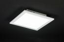 bekijk plafondlamp-10853-modern-wit-mat-aluminium-kunststof-vierkant