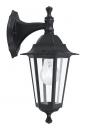 bekijk wandlamp-11125-klassiek-zwart-aluminium-glas-helder_glas-lantaarn