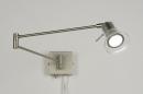 bekijk wandlamp-30199-modern-glas-helder_glas-staal_-_rvs