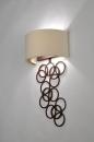 bekijk wandlamp-30373-klassiek-metaal-stof-roest-bruin-brons-wit-rechthoekig