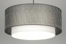 bekijk hanglamp-30405-modern-zilvergrijs-stof-rond
