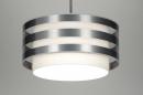 bekijk hanglamp-30406-modern-design-wit-stof-rond