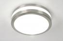 bekijk plafondlamp-30520-modern-kunststof-staal_-_rvs-rond
