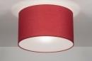 bekijk plafondlamp-30529-modern-rood-kunststof-staal_rvs-stof-rond