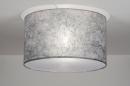 bekijk plafondlamp-30530-modern-kunststof-staal_-_rvs-stof-zilver(grijs)-rond