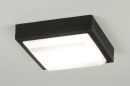 bekijk plafondlamp-30554-modern-zwart-aluminium-kunststof-vierkant