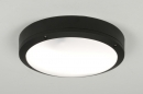 plafondlamp-30555-modern-zwart-aluminium-kunststof-polycarbonaat-rond
