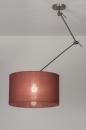 bekijk hanglamp-30646-modern-eigentijds_klassiek-landelijk-rustiek-bruin-marsala-rood-stof-rond