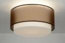 bekijk plafondlamp-30656-modern-retro-bruin-stof-rond