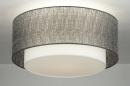 bekijk plafondlamp-30658-modern-design-grijs-zilvergrijs-stof-rond
