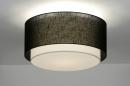 bekijk plafondlamp-30659-modern-retro-zwart-metaal-stof-rond