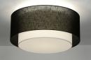 bekijk plafondlamp-30660-modern-retro-zwart-metaal-stof-rond