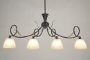 bekijk hanglamp-58920-klassiek-roest-bruin-brons-glas-zacht_geel-metaal-rond-langwerpig
