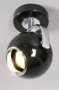 bekijk spot-70262-modern-retro-metaal-zwart-glans-rond