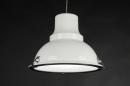 bekijk hanglamp-70368-modern-retro-industrie-look-metaal-wit-glans-rond