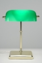 bekijk tafellamp-70655-klassiek-retro-glas-messing-glanzend-groen-rechthoekig