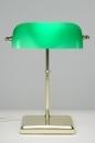 bekijk tafellamp-70655-klassiek-retro-groen-glas-messing-glanzend-rechthoekig