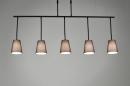 bekijk hanglamp-71324-modern-metaal-stof-bruin-zwart-mat-langwerpig