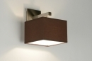 bekijk wandlamp-71464-modern-staal_-_rvs-stof-bruin-vierkant