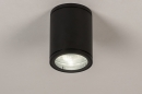 bekijk plafondlamp-71905-modern-design-zwart-mat-aluminium-glas-helder_glas-rond