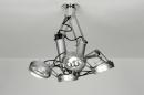 bekijk plafondlamp-72009-modern-industrie-look-staalgrijs-metaal-rond-rechthoekig