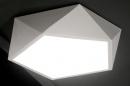 bekijk plafondlamp-72111-modern-design-kunststof-metaal-wit
