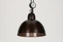bekijk hanglamp-72187-industrie-look-roest-bruin-brons-metaal-rond